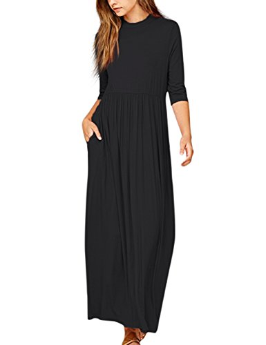 long black plus size dress - 4