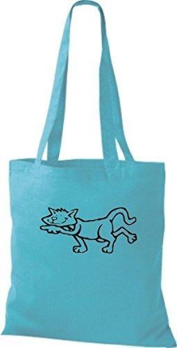 Sky Women Bag Blue Fabric Shirtinstyle Cotton wvqIYatT