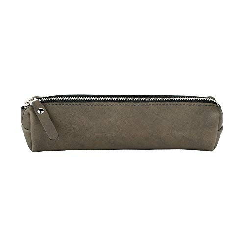 SLATE COLLECTION Fremont Pencil Pouch, Full-Grain Leather (Slate Grey)