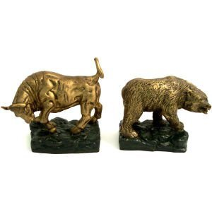 Stock Market Bronze Bookends
