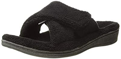 Vionic Women's Indulge Relax Slipper - Ladies Adjustable Slippers with Concealed Orthotic Arch Support