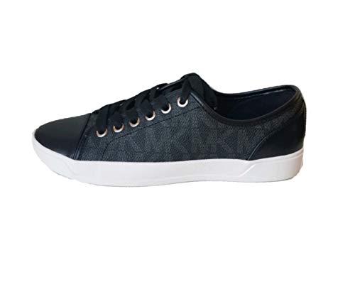 Michael Kors Womens MK City Sneakers, PVC, Black (8)
