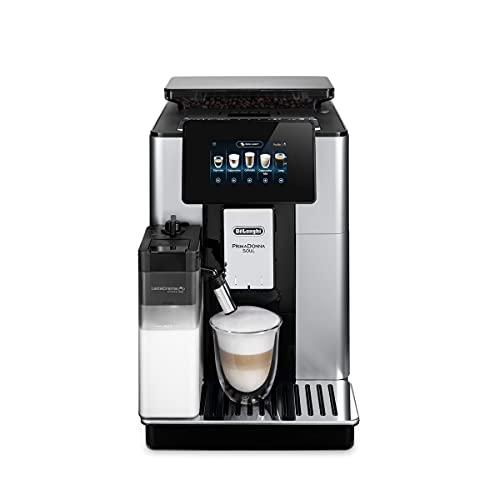 De'Longhi Primadonna Soul ECAM612.55.SB - Cafetera superautomática (19 bares, Pantalla TFT táctil 4.3 '', sistema Cappuccino Automático, control por wifi mediante App)