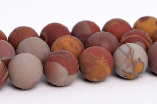 7-8mm Natural Matte Noreena Jasper Beads Australia Round Loose Beads 15.5'' Crafting Key Chain Bracelet Necklace Jewelry Accessories Pendants