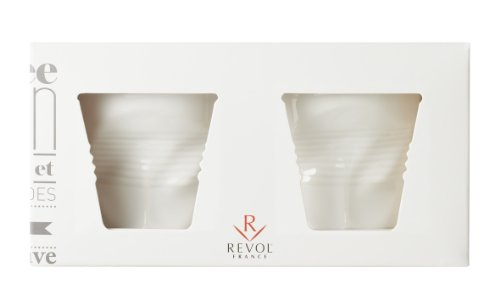 Revol Cappuccino Crumpled Tumbler White set of 2 - 18 ()