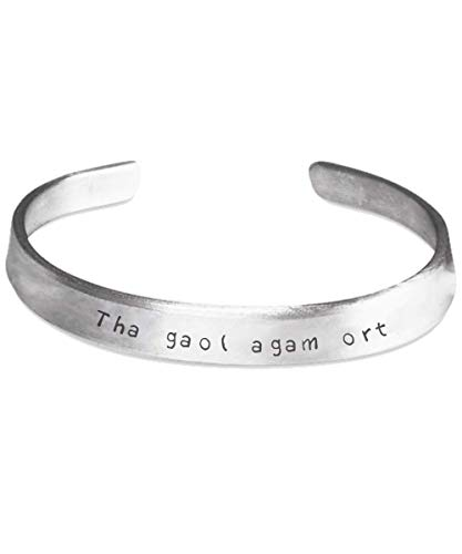 Scottish Gaelic I Promise Love Bracelet Tha Gaol Agam ort (I Love You) Gift Jewelry for Him Her Husband Wife Boyfriend Girlfriend