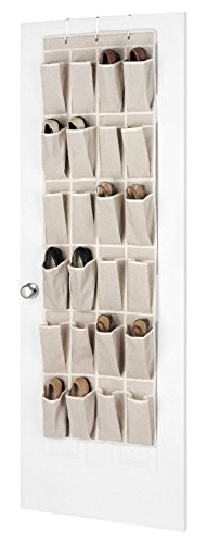 Whitmor Linen Over the Door Shoe Organizer