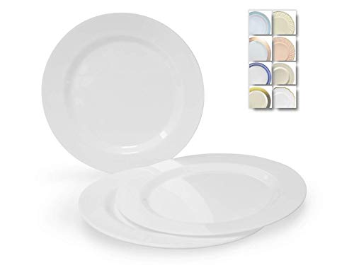 """"""" OCCASIONS"""" 120 Plates Pack, Heavyweight Disposable Wedding Party Plastic Plates for Thaksgiving (10.5"""