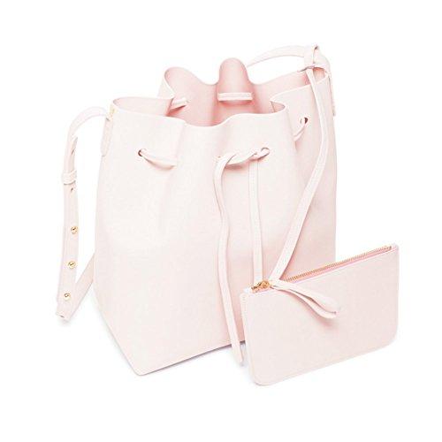 LifenewBaby - Bolso al hombro para hombre blanco Blanco S small Pink L