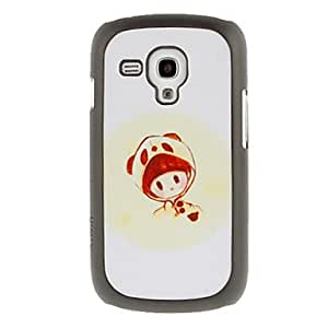 Panda Girl Drawing Pattern Protective Hard Back Cover Case for Samsung Galaxy S3 Mini I8190