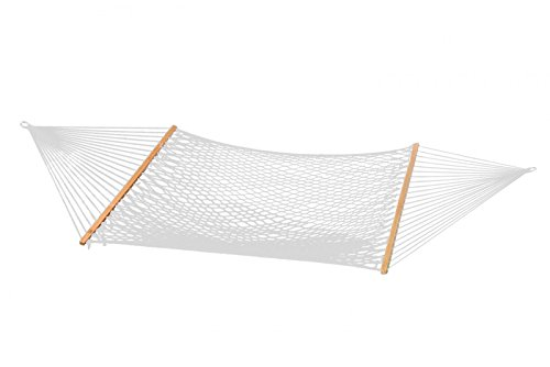 (Patio Bliss Hammock Classic Poly Rope- Natural - Canvas White )