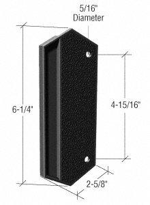 CRL Black Plastic Outside Pull; 4-15/16