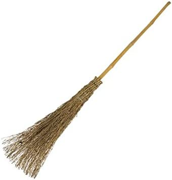 110cm Besom Broom Traditional Hand Birch Witches Broom To Sweep Up The Leaves