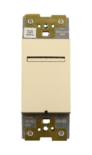 Leviton ATM10-1LA, Acenti 1000W Incandescent/1000VA Magnetic Low Voltage Dimmer, Single Pole, 3-Way or More Applications, ()