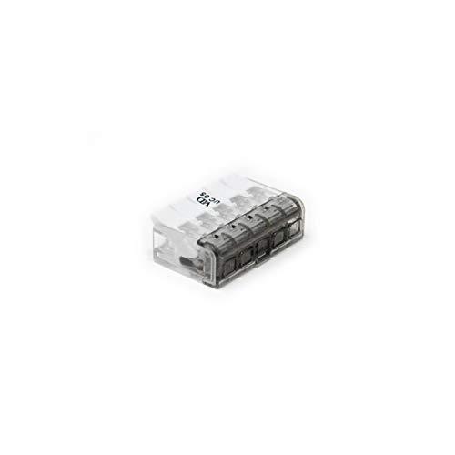 Electraline 80613 Verbindungsklemme 5 Drä hte, 0.2 bis 4 mm2, mit Hebel, 5 Stü ck, UC 5 Eingä nge