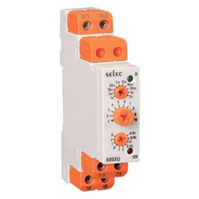 Selec Controls 600XU-A-1-CU Analog Rail Timer, DIN, 17.5 mm W x 90 mm H x 60 mm -