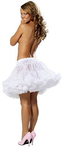 Layered Tulle Petticoat Adult Costume Accessory White - One Size