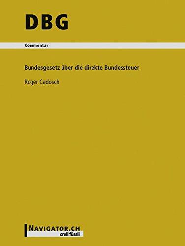 DBG Kommentar: Bundesgesetz über die direkte Bundessteuer