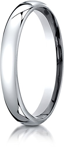 [Benchmark 14K White Gold 3.5mm European Comfort-Fit Wedding Band Ring, Size 5.5] (Band Tiffany Style Ring)