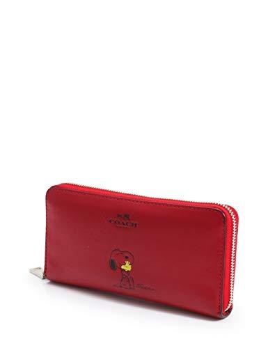 a523f5d7be45 Amazon | (コーチ) COACH スヌーピーアコーディオンジップ 長財布 レザー 赤 PEANUTSコラボ F53773 中古 |  Amazon Fashion 通販