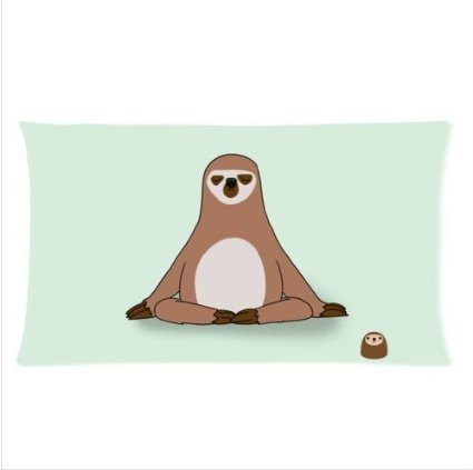 Custom Cute Sloth Rectangle Standard Size Pillowcase 16&Quot;X24&Quot; (Two Side) - Afmart