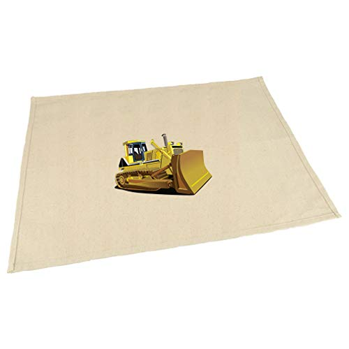 Yellow Dozer Car Auto Cotton Canvas Placemat Table Mat Natural One Size