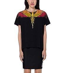 Marcelo Burlon Women S Cwaa030s190470231088 Black Cotton T Shirt