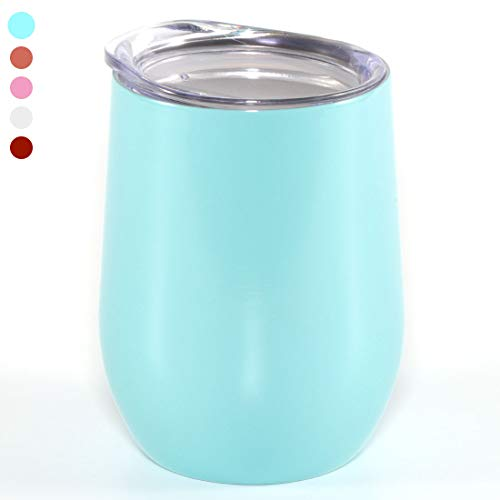 Vantic Wine Tumbler, 12 oz Stainless Steel Stemless Glass | Double Wall Vacuum Insulated Perfect for Home Outdoor - Teal