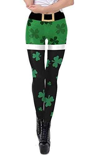 Clover Leaves High Waist Soft Tights