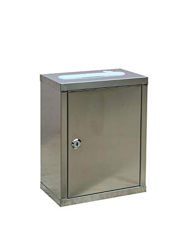 Teng Peng Multi-purpose Stainless Steel Boxless Ballot Box Donation Love Box Merit Box With Lock Suggestion Box Mail Box Delivery Box Lockable mailbox