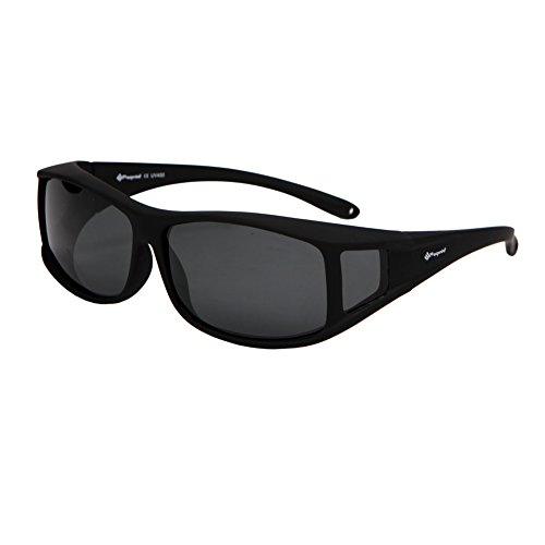 Freeprint Polarized Solar Shield Fit Over Glasses Driving Sunglasses for Men and Women, - Glasses Over Shades