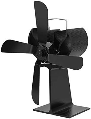 Candybarbar Ventilador de chimenea termodinámico de cuatro hojas Ventilador de estufa de leña alimentado por calor para leña/estufa de leña: Amazon.es: Bricolaje y ...