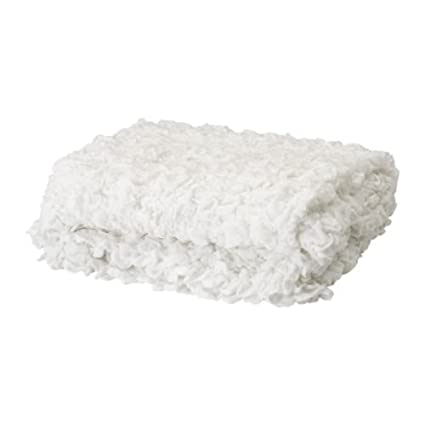 Manta Sofa Ikea.Ikea Ofelia Blanket White 130x170 Cm Amazon Co Uk