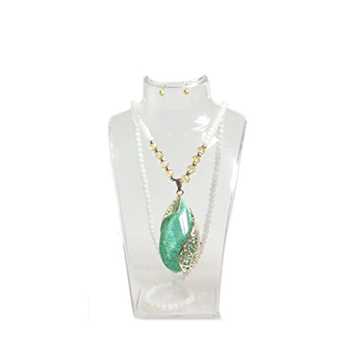 treachi Acrylic Bust Model Necklace Pendant Stand Holder Jewelry Display ()