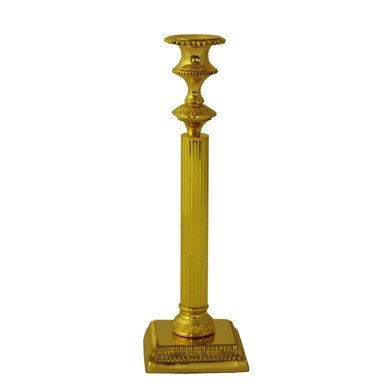 Grehom Candlestick - Golden Fountain; 11'' candle holder; Made from solid brass
