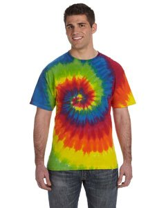 Tie Dyed T-shirt (Tie-Dye 5.4 oz., 100% Cotton Tie-Dyed T-Shirt M MOONDANCE)
