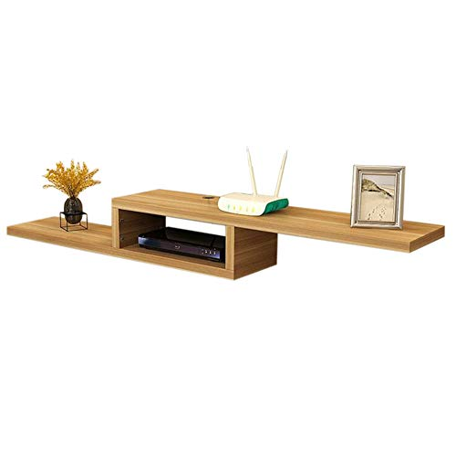 - Xyanzi-TV Ceiling & Wall Mounts Set Top Box Shelf Floating Frame TV Console Wall Mount Place A DVD Player Multi-Color Optional Functional Storage Shelf (Color : Wood Color, Size : 1502320cm)