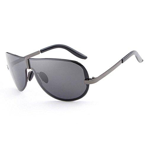 grey RPFU Soleil Polarizer Gun UV400 Fashion Homme Lens Frameless Métal Lunettes De qgwPg