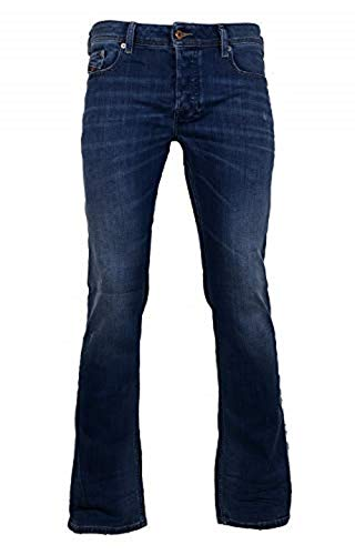 Diesel Mens Bootcut Stretch Jeans Zatiny 084QQ Blue Used Look (31/30)