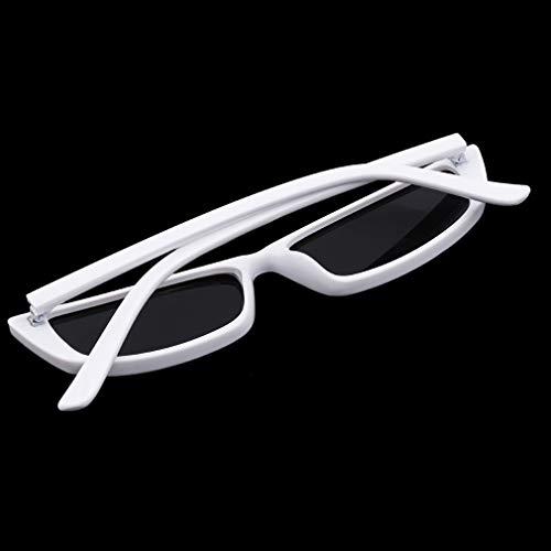 de Femmes Lunettes Cadre Retro de Transparent Blanc Soleil pour Small Cadeaux Hommes Rectangle LnLyin Retro Frame Glasses Soleil et Narrow Noir Eyewear Lunettes Frame wqCp1azxt