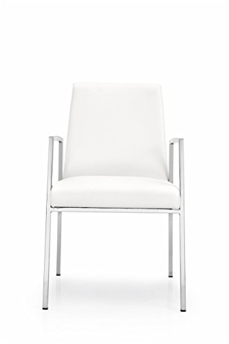 Connubia Amsterdam Armchair Metal Stained Chromed Frame Optic White Scuba - Metal Chair Calligaris