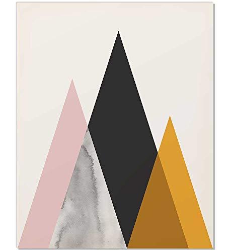 Mid Century Art Print, Midcentury Modern Art, Mid Century Print, Mid Century Modern, Modern Mountain, Unframed Print, Geometric Print, Modern Wall Art, Mountain Art Print, Mountain Poster, ()