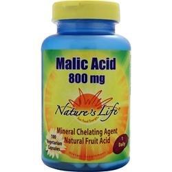 Nature's Life Malic Acid 800 mg 100 Veg - Vitamins Malic Acid Magnesium
