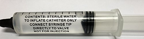 10ml Prefilled Syringe of Sterile Water for Catheter 5 Pack by 5 Pack - 10ml Sterile Water Prefilled Syringe to inflate Catheter Only Not for Injections