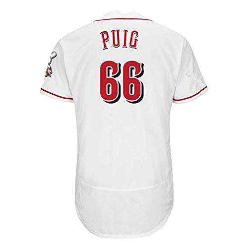 - Men's/Women/Youth_Yasiel_#66_Puig Youth Cool Base Alternate Replica Baseball Jersey-White
