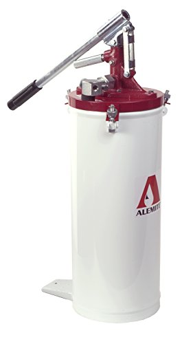 Alemite 6713-4 High Pressure Bucket Pump, Oil & Grease, 0.0625 oz Delivery Per Stroke, Up to 15000 psi Pressure, 1/4