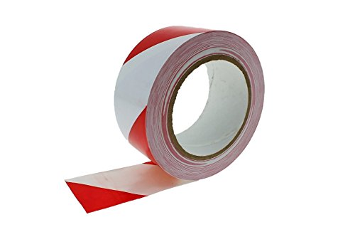 "2"" Red White Striped Vinyl Floor Tape 7 Mil Rubber Adhesive Sealing Warning OSHA Caution Marking Safety Electrical Removable PVC Tape 36yd"
