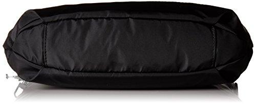 Gleam Silver Aura Crossbody Black Crossover Trim Bag with Purse ZadqwHdgP