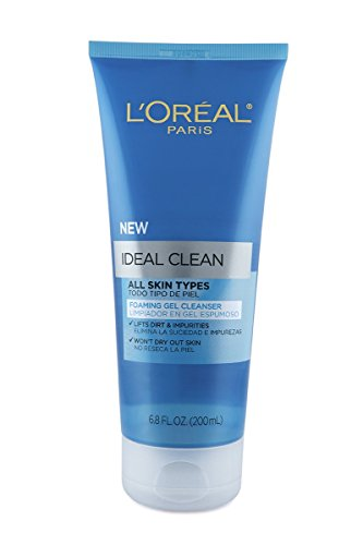 L'Oreal Paris Ideal Clean Foaming Gel Facial Cleanser, All Skin Types - Clean Foaming Face Wash