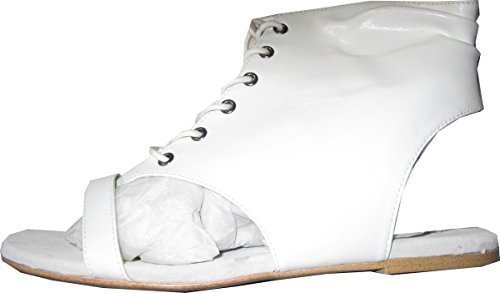 CHILLANY High-Heeled Sandals From Leather Of White ytWKc